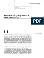 de Sousa Santos, Boaventura - Porque é tao difícil construir uma teoria crítica