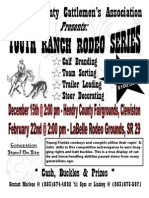 2013 - 2014 Hendry Youth Ranch Rodeo Flyer