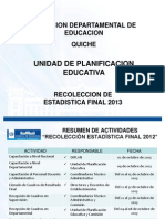 Presentación ESTADISTICA FINAL 2013