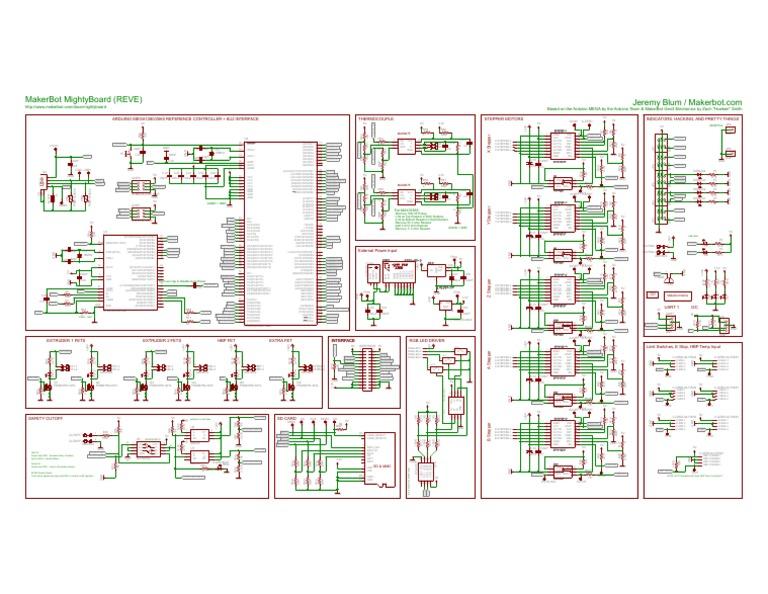 makerbot mightyboard reve schematic