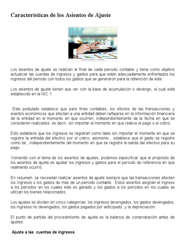 Lujo Resumen De Contabilidad Pdf Ilustración - Ejemplo De Colección ...