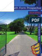 DGSB Sixth Form Prospectus 2014
