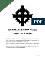 165015304 Joaquin Bochaca Texto Para Un Programa Politico Alternativo Al Sistema