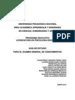 Guia Examen General de Conocimientos Psicologia Educativa Upn 2012