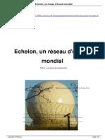 Echelon, un réseau mondial d'écoute
