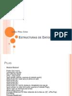 Estructuras de Datos Pilas Colas