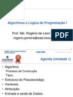 Aula 1 - Algoritmos e Logica de Programacao I