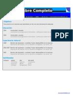 Curriculum Vitae Formato Basico