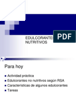 Edulcorantes No Nutritivos 26 Abril
