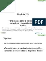 Modulo Formativo 2.3 - Perdidas de Calor a Traves de La Estructura Del Edificio