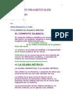 versificación española.