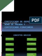 Certificado de Deposito y Prenda