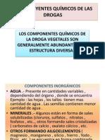 CONSTITUYENTES QUÍMICOS DE LAS DROGAS