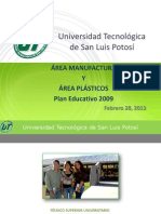 PRESENTACIÓN UT (MANUFACTURA Y PLÁSTICOS)2013