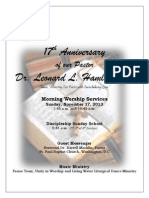 MBC Bulletin- 17th Anniversary of Pastor Leonard L. Hamlin, Sr.