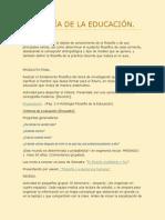 Sesión 1 de 5 FILOSOFÍA DE LA EDUCACIÓN