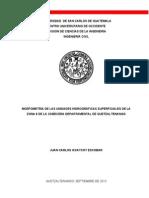 Morfometría de las unidades hidrográficas superficiales de la zona 8 de la cabecera de Quetzalten