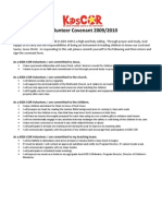 Volunteer Covenant 2009-2010