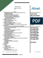 Atmel 8272 8 Bit AVR Microcontroller ATmega164A PA 324A PA 644A PA 1284 P Summary