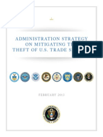 Administrative Strategy on Mitigating the Theft of U.S. Trade Secrets (2013) uploaded by Richard J. Campbell