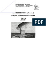 Disc. Nº 1. Carga Eléctrica y Ley de Coulomb