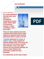 Dr Mercola - Distilled Water Interview With Houston Tomasz