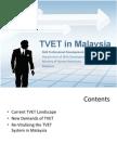 TVET in Malaysia