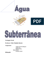Água Subterrânea  Fundamentos