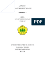 Laporan Praktikum Petrologi 1 Mineral