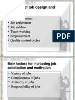 Methods of Job Design and Redesign