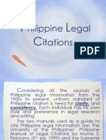 Philippine Legal Citations-Report