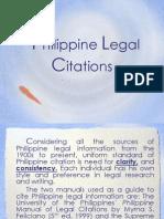Philippine Legal Citations-Report