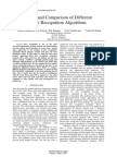Study and Comparision of Face Recognition Algorithm