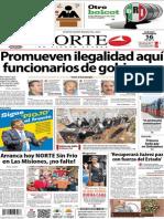 Periódico Norte de Ciudad Juarez 16 de Noviembre de 2013