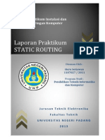 Jobsheet 5 - Static Routing