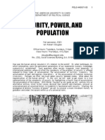 Security, Power, and Population