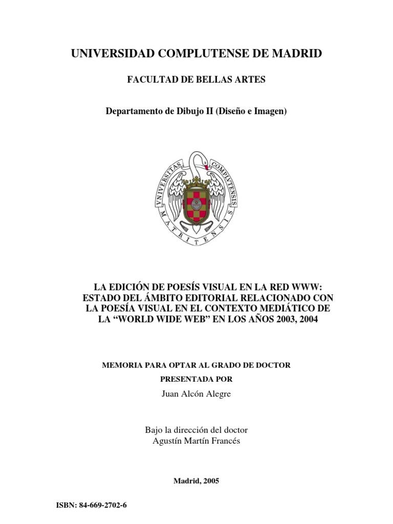 Tesis 2005 UCM_Juan Alcom_La Edicion de Poesia Visual en la Web