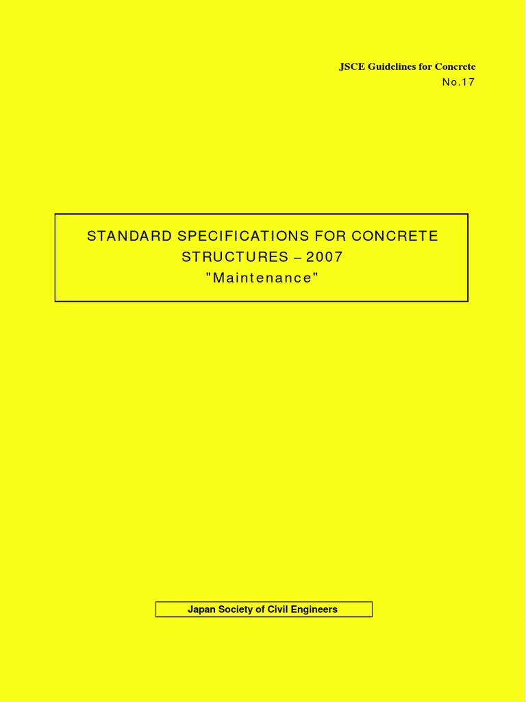 JGC17 Standard Specifications Maintenance 1 1