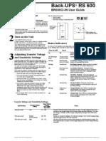 APC RS-600 UPS Manual
