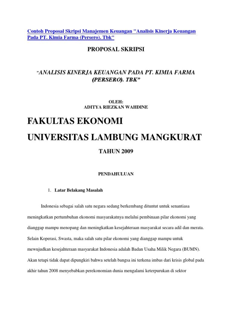 Proposal Tesis Manajemen Keuangan Pdf Jurnal Ilmu Manajemen Jim