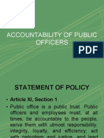 Accountability of Officers