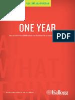Kellogg One Year MBA Brochure 2012 2013