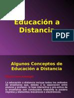 Concepto de Educación a distancia