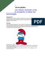 Personajes  de los pitufos y explicación simbólica..