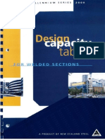 Design Capacity Tables Welded Sections