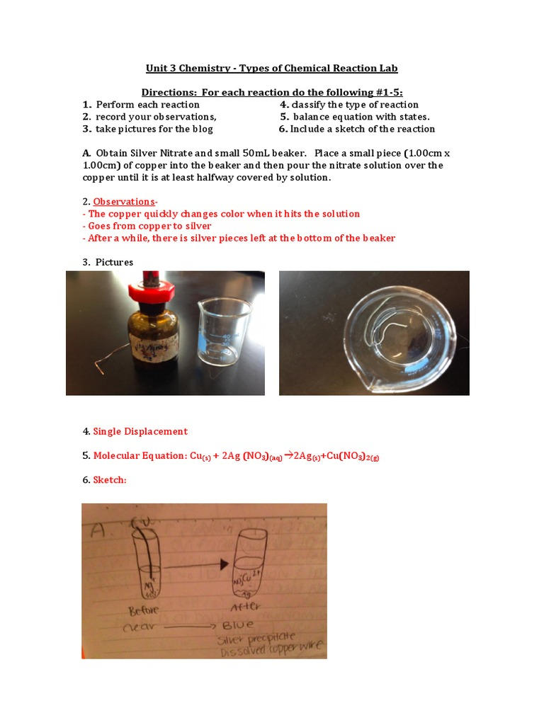 new types of reactions lab | Ph | Chemical Reactions