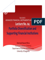Lecture No. 04_Portfolio Diversification and Supporting Financial Institutions