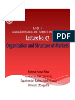 Lecture No. 07 Organization and structure of Financial Markets