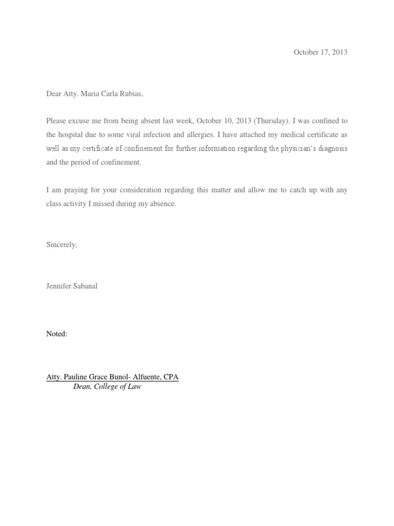 Excuse letter aljukfo Image collections