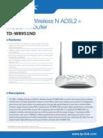 TD-W8951ND V4 Datasheet Link